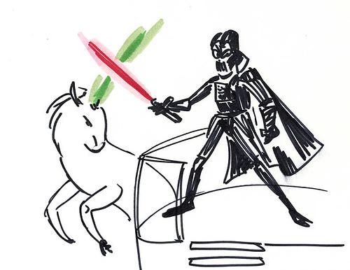 Darth Vader Battles A Unicorn – Epic. 42. Darth Vader Surfer – Let's go